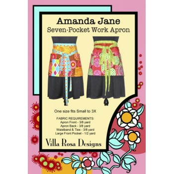 Amanda Jane Work Apron pattern by Villa Rosa Designs - One Size fits up to 3X