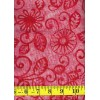 Michael Miller Floral Fling Batik in Berry - Hot Pink Flowers & Leaves on Pink