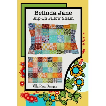 Belinda Jane Pillow Sham pattern by Villa Rosa Designs - Charm Pack Friendly Pattern