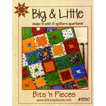 Big & Little Pattern by Bits 'n Pieces - uses just 8 Fat Quarters