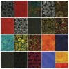 42 Island Batik Charm Squares - Fire Island Collection