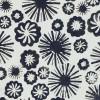 Fresh Water Designs FWDHOT-6020 Black Flowers & Starbursts on White