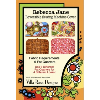 Rebecca Jane Sewing Machine Cover pattern by Villa Rosa Designs - Fat Quarter Friendly Pattern