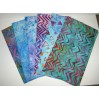 Six Robert Kaufman Batik Fat Quarters 634 - Geometric & Bright Tones