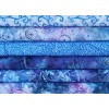 Six Cantik, Galaxy, Anthology & Island Batik Fat Quarters RM - Blue Tones - Great Stashbuilder!