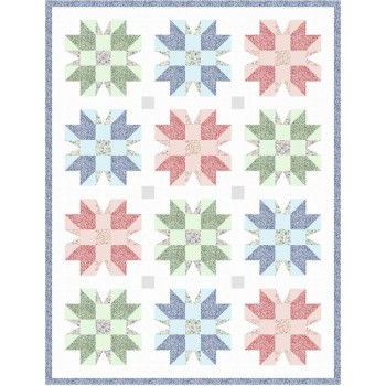 FREE Robert Kaufman Flowering Stars Pattern