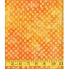 Michael Miller Clown Check Batik in Sunkist - Small Orange Checks on a Yellow Orange Background