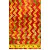 Michael Miller Chic Chevron Batik in Paprika - Orange ZigZags on an Orange Yellow Background