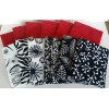 Batik Half Yard Bundle HY1201 - Black & Whites and Reds - 6 Yards Total