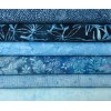 Six Island, Anthology & Benartex Batik Fat Quarters TA - Blue Tones