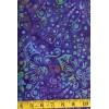 Batik Textiles 3804 Multi Colored Flowers and Tiny Boxes on Royal Blue