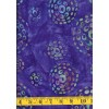 Batik Textiles 3806 Multi Colored Geometric Circle Pattern on Royal Blue