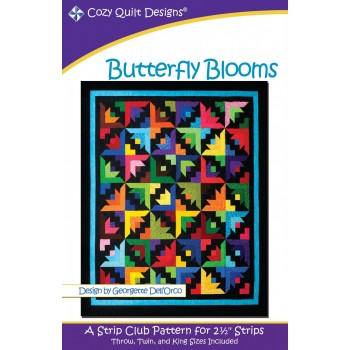 Butterfly Blooms pattern by Cozy Quilt Designs - Jelly Roll & Scrap Friendly