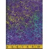 Henry Glass Batik 8650-59 - Purple, Blue, Yellow and Green Scribbles on Purple