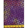 Henry Glass Batik 8654-59 Purple, Orange and Gold Crosses on a Purple Background