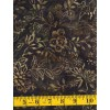 Marcus Brothers Batik 5171-0114 - Floral & Leaf Pattern on Brown