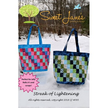 Streak of Lightening bag pattern by Sweet Jane's - Jelly Roll & Scrap Friendly