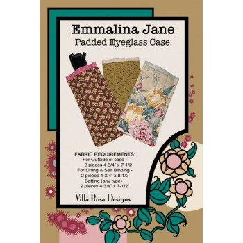 Emmalina Jane Padded Eyeglass Case pattern card by Villa Rosa Designs