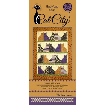 Cat City pattern card by Villa Rosa Designs - Fat Quarter Friendly Pattern