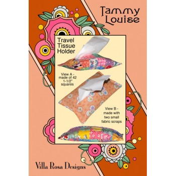 Tammy Louise Travel Tissue Holder pattern card by Villa Rosa Designs