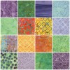 40 Timeless Treasures Batik Charm Squares - Tahiti Collection
