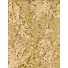 Anthology Batik 1038 Tan & Olive Green Medium Tone Mottled Solid