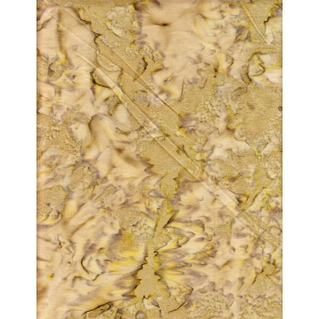 Anthology Batik 1038 Tan & Olive Green Medium Tone Mottled Solid