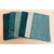 2.5 Yard Quilt Kit 2.5YD1 with free pattern - Teal & Blue Tones