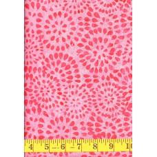 Wilmington Batavian Batik 22105-330 Pink Petalburst on a Light Pink Background