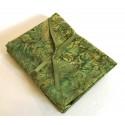 Three Batik Fat Quarters 379A - Green & Cream Tones