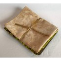 Three Batik Fat Quarters 389A - Tan, Green & Brown Tones