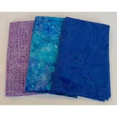 3 Yard Batik Bundle 3YD1 - Purple & Blue Tones