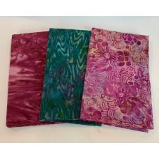 3 Yard Batik Bundle 3YD26 - Teal and Purple Tones