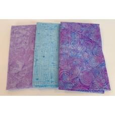 3 Yard Batik Bundle 3YD30 - Purple & Blue Tones
