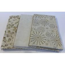 3 Yard Batik Bundle 3YD33 - Cream & Tan Tones