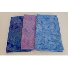3 Yard Batik Bundle 3YD35 - Purple & Blue Tones