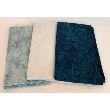 3 Yard Batik Bundle 3YD39 - Blue Tones