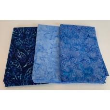 3 Yard Batik Bundle 3YD40 - Blue Tones