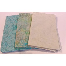 3 Yard Batik Bundle 3YD41 - Cream & Aqua Tones