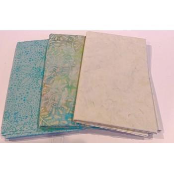 3 Yard Batik Bundle 3YD41 - Cream & Aqua Tones