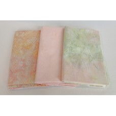 3 Yard Batik Bundle 3YD43 - Pastels - Peach and Green Tones
