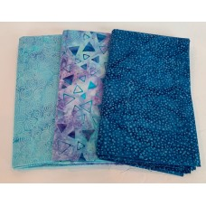3 Yard Batik Bundle 3YD5 - Purple, Blue & Turquoise Tones
