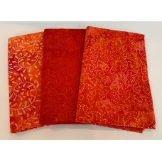 3 Yard Batik Bundle 3YD51 - Orange & Red Tones