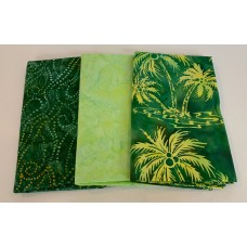 3 Yard Batik Bundle 3YD52 - Green Tones