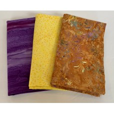 3 Yard Batik Bundle 3YD54 - Peach, Orange and Pink Tones