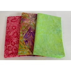3 Yard Batik Bundle 3YD56 - Pink, Green and Purple Tones
