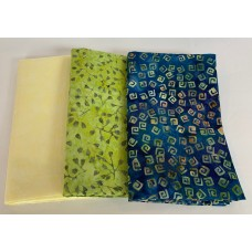 3 Yard Batik Bundle 3YD57 - Yellow, Green & Blue Tones