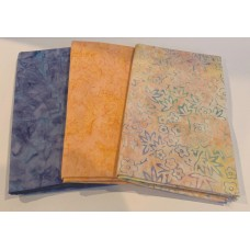3 Yard Batik Bundle 3YD9 - Peach & Purple Tones