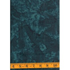 Batik Textiles 4703B - Dark Blue Green Mottled Blender