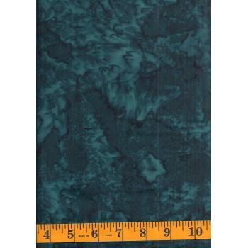 Batik Textiles 4703B - Dark Blue Green Mottled Blender